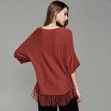 Fashion Acrylic Knitted Fringeの女性プルオーバーの偶然のセーターのワイシャツ(YKY2110)