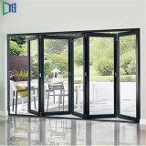 Profilé en aluminium Bi pli accordéon porte pliante balcon en verre Section porte Heavy Duty