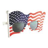 I vetri del giocattolo del partito creano gli occhiali da sole della bandiera americana del ventilatore dell'atmosfera