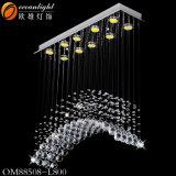 La sombra de cadena de cristal lámpara colgante lámpara colgante gota Om089
