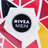 Triangle de taille 5 l'impression de marque Nivea cousu un ballon de soccer de la machine