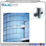 Profil d'aluminium métallique mur rideau en verre