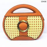 Leer van de Handtas Pu van de Vrouwen Crossbody van de Manier van de Ontwerper van Guangzhou het MiniDame Round Bags (30408)