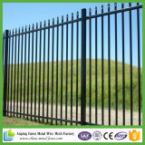 Ornamental Black Powder Coated Galvanized Steel Wrought Iron Fence