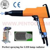 Última pistola de recubrimiento de polvo para el radiador de aluminio de la lámpara del LED