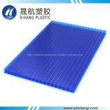 Protégé contre les UV Twin-Wall feuille creux en polycarbonate avec Certification SGS