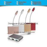USB-C Adapter-Aluminiumlegierung Multi-Kanal Typ C, + 4k HDMI (30Hz) + Kanäle USB-3.0