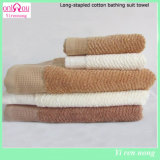 100%長いStaple Cotton Bath Towel 500GSM