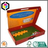 여행 가방 플라스틱 손잡이를 가진 다채로운 골판지 포장 상자
