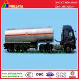3 de Semi Aanhangwagen van de Tankwagen van het Roestvrij staal van de Stookolie van assen