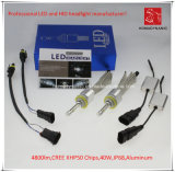 La prova H11 LED CREE Xhp50 faro dell'automobile 4800lm 6000k 40W Acqua