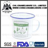Non токсическая аттестованная LFGB чашка эмали чугуна печатание логоса
