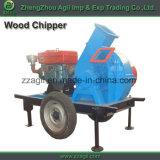 Beweegbare Diesel Chipper van de Schijf Houten Chipper Met motor met Wiel