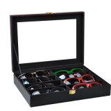 Contenitore di cuoio di occhiali da sole della cassa dello spettacolo della cassa di vetro di alta qualità
