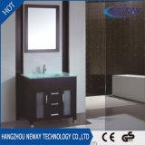 Unité de miroir de conception simple Cabinet de toilette en bois massif