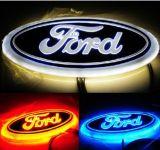Het hete Licht van het Embleem van de Auto van de Verkoop 4D. ABS Verchroomd Plastiek