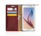 La qualité conçoivent la caisse en cuir d'unité centrale de chiquenaude de luxe pour le cas de couverture de téléphone portable de pochette de Samsung J5