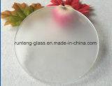 L'acide de forme ronde d'Inférieur-Fer a repéré la feuille en verre en verre givré