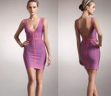 Планка с глубоким v - платье женщин безрукавный повязки щетки шеи Backless