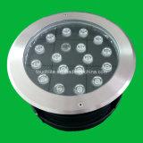 18W 24W à LED IP68 Underground de la lumière avec corps en acier inoxydable