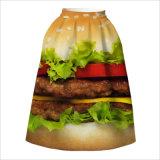 Летом3d High-Waist печатной платы расширения с цветочным рисунком юбки в полном объеме