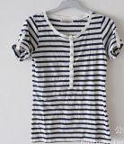 La mujer la moda de verano de la banda de algodón Camiseta ropa