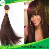 Extensão humana brasileira do cabelo de Brown do Virgin de 100%