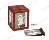 De houten Dozen van het Album van de Foto voor Giften
