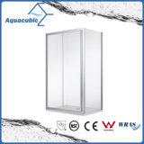 Casa de banho de vidro com chuveiro simples e chuveiro (AE-BFGL821A)