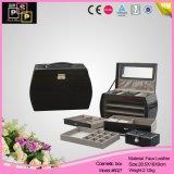 Pink Store Package Gabinete de jóias em couro PU (8027)