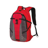 Trouxa vermelha da escola da forma que caminha o saco dos esportes
