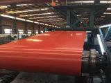Bobinas PPGI, Bobina de aço revestida de cor, Ral9002 Bobina de aço galvanizado pré-pintado branco Z275 / Metal