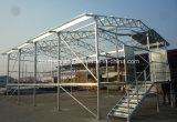 Het prefab Huis van het Gevogelte van de Structuur van het Staal, het Huis van de Kip, de Bouw van het Landbouwbedrijf