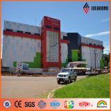 Painel composto de alumínio colorido de Ideabond Hotsale PVDF para a parede de Curtaina