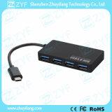 4 Hub 3.0 van het Type C USB van haven (ZYF4014)