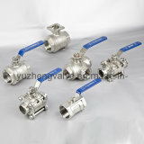 Kohlenstoff Steel Thread 3PC Ball Valve