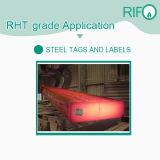 Graffette resistenti degli autoadesivi delle modifiche dei contrassegni dell'acciaio di temperatura impermeabile (RHT-200)