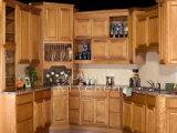 Gabinete de cozinha da madeira contínua e cozinha Furniture#215