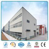 Entrepôt léger préfabriqué de construction de bâtiments de structure métallique de bâti