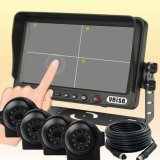 Waterproof、Night Vision Functionの接触Screen Quad Monitor Camera System