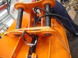 泥バケツ、坑夫の油圧バケツを傾ける坑夫の接続機構