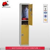 体操のロッカーの単一のドア2層の金属のロッカーをたたきなさい