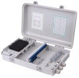 Rectángulo de distribución plástico terminal del cable óptico de fibra de 16 memorias