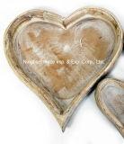 صنعت زخرفيّة قلب شكل خشبيّة مطبخ [ستورج بوإكس]