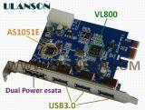 PCI-E USB3.0+Porta eSATA/cartão SATA 3