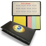 PU de post-it , Memo Pad engomada , notas adhesivas con Calendario