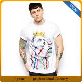 T-shirts 100% estampés drôles du coton des hommes de qualité