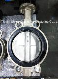 API/JIS/DIN Válvula Borboleta Wafer de aço inoxidável com o operador da Engrenagem