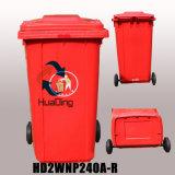 Plastiksortierfach-Gummirad-Abfalleimer der aschen-240L für im Freien