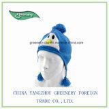 子供の美しく暖かい冬のEarflapのニットの帽子